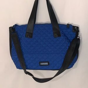 Steve Madden Blue Large Quilted Nylon Tote